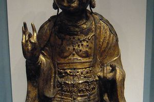 A late Goryeo or Koryo era bodhisattva or enlightened being, National Museum in Seoul