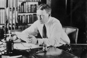 Photograph of H.L. Mencken at his desk