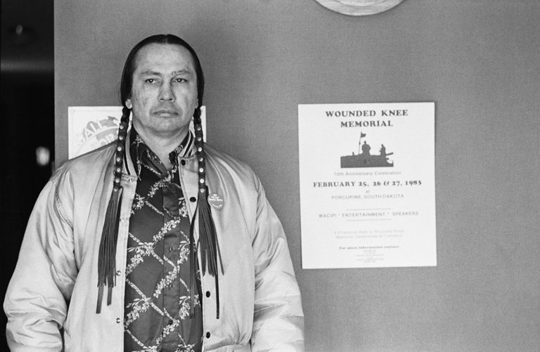 American Indian Movement Leader Russell Mean