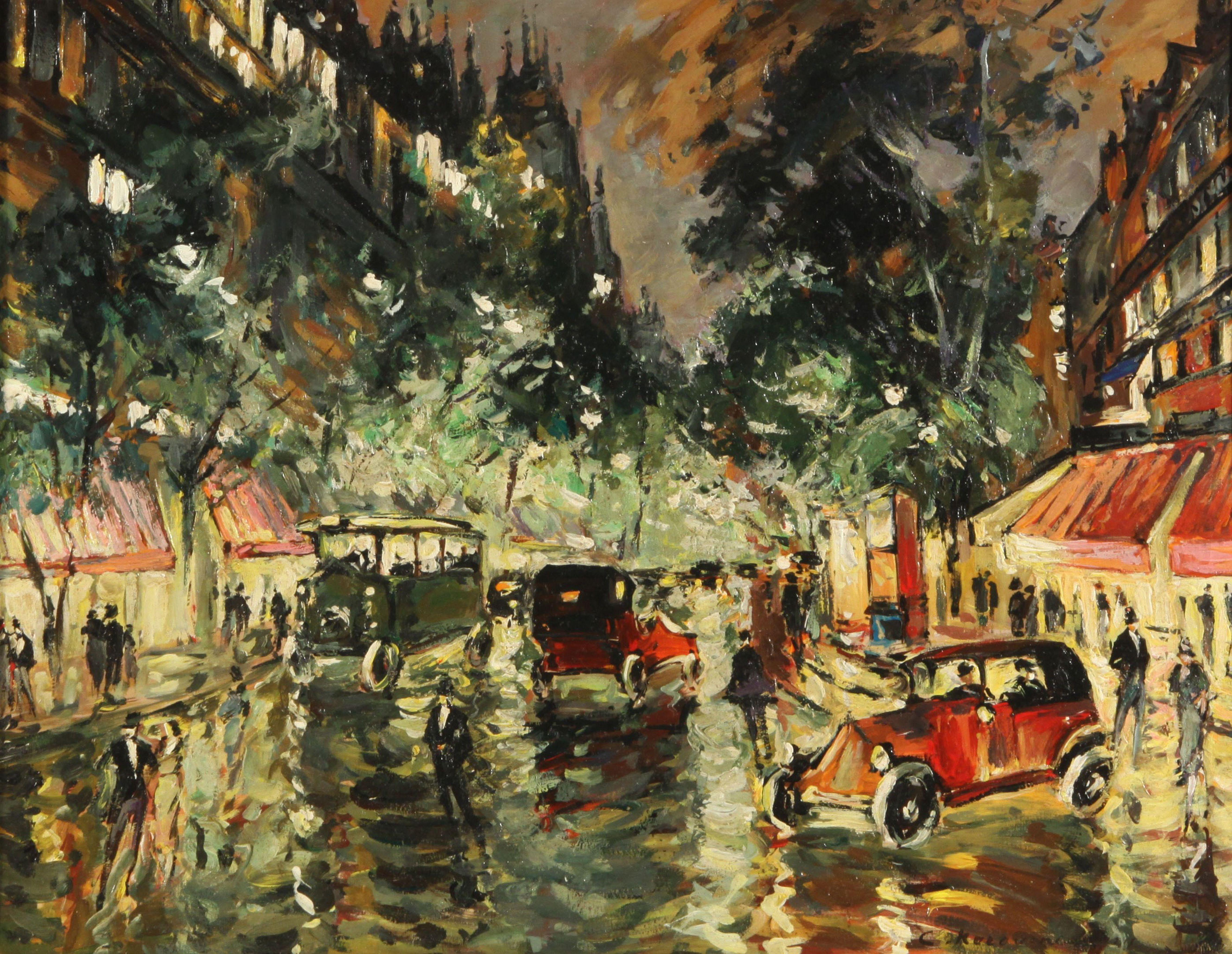 Rainy Night in Paris, 1930s