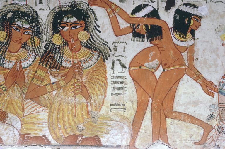 Fragment of wall painting from the tomb of Nebamun, Thebes, Egypt, 18th Dynasty, c1350 BC.