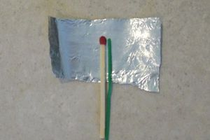 A match and piece of foil