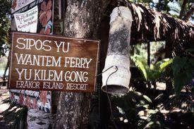 pidgin language on sign