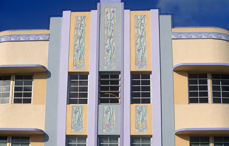 The 1939 Marlin Hotel, Art Deco Historic District in Miami Beach, Florida