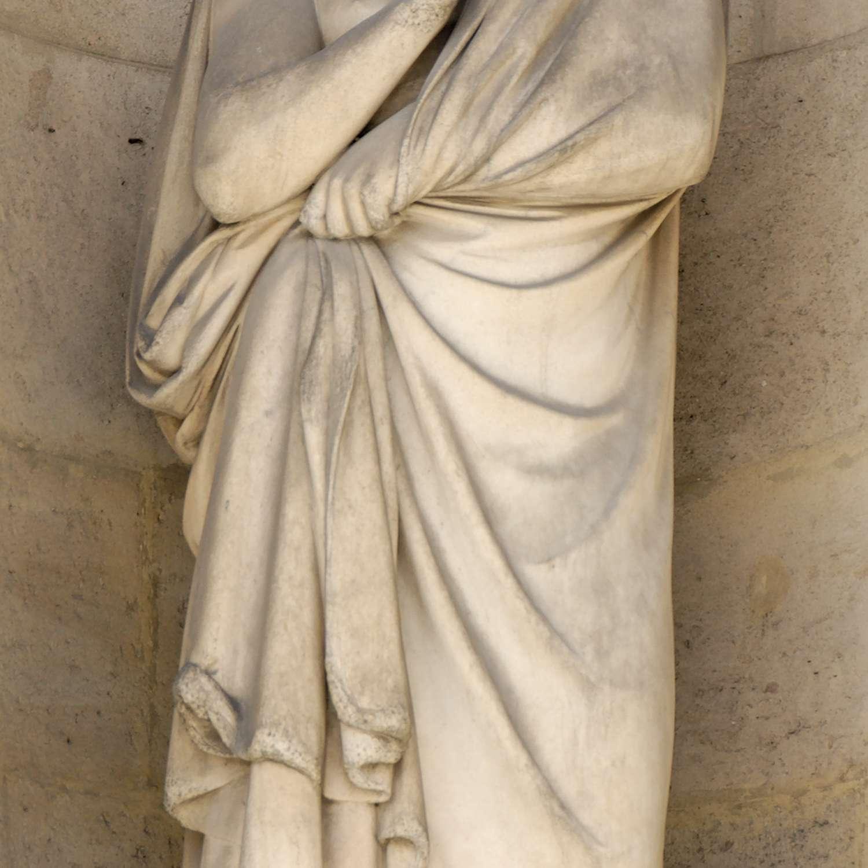 Aristarchus sculpture West façade of the Cour Carrée in the Louvre palace, Paris.