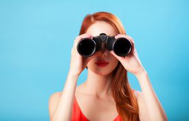 Searching with binoculars
