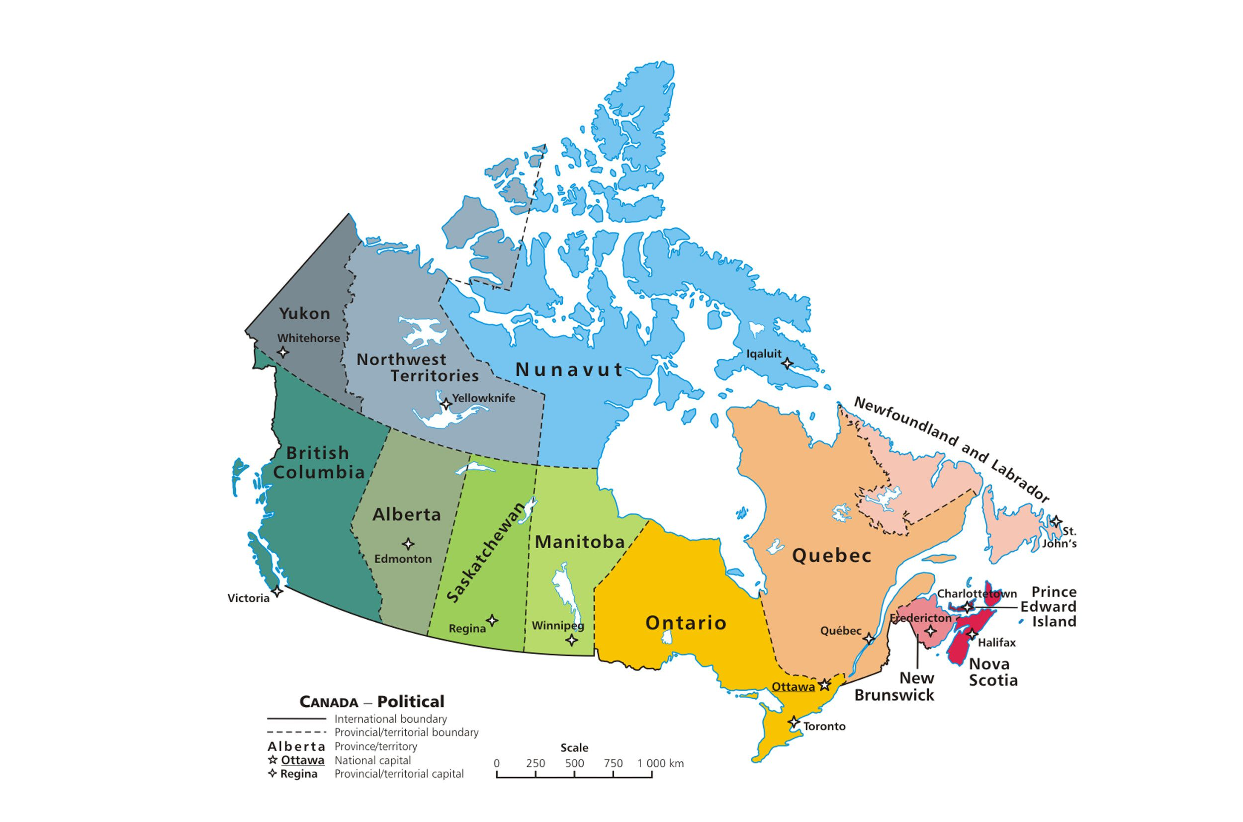 Fill In Map Of Canada.Canadian Provinces And The Confederation