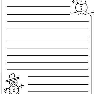 Christmas Writing Printables to Format Christmas Writing