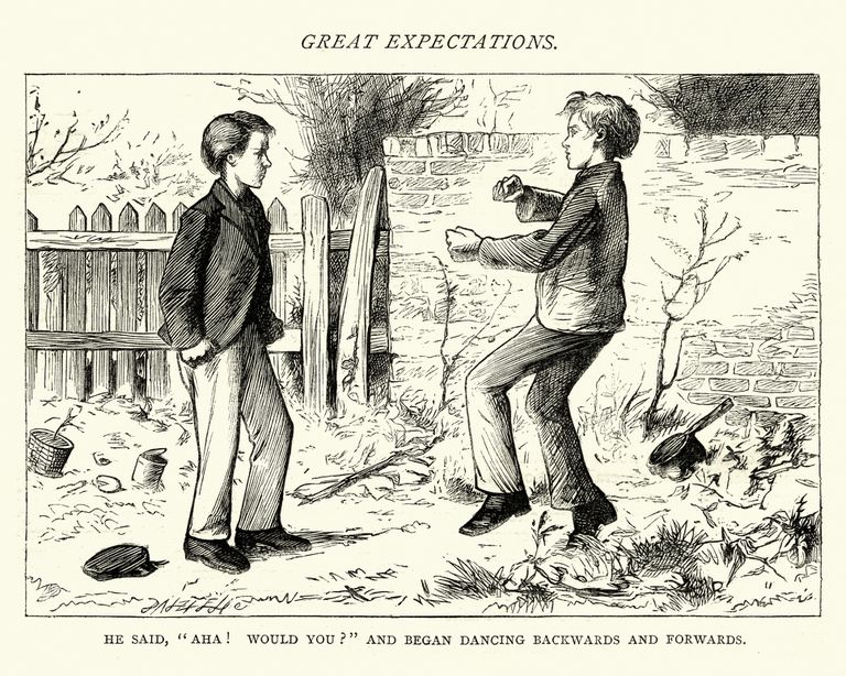 Dickens, Great Expectations, He said, Aha! would you?