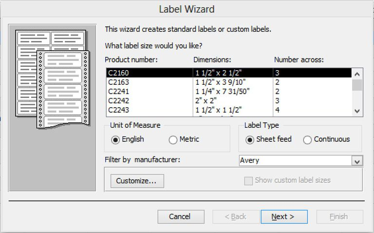 how to print mailing labels in microsoft access 2013