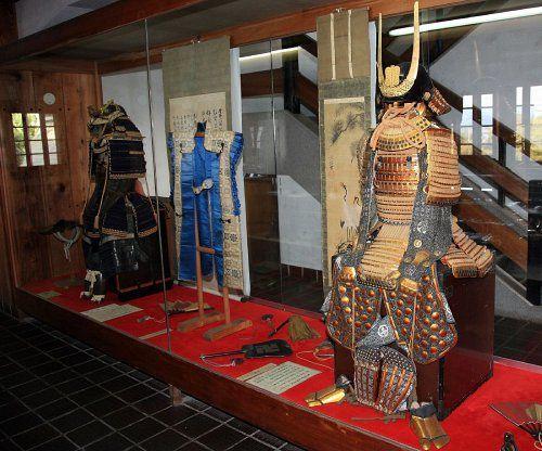 Yoshitaka family armor on display at Nakatsu Castle, in Oita Prefecture, Japan.