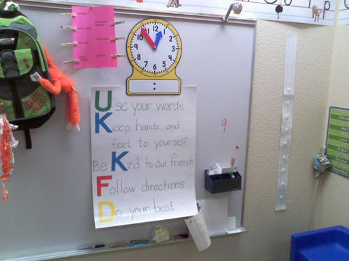 Self contained classroom rules