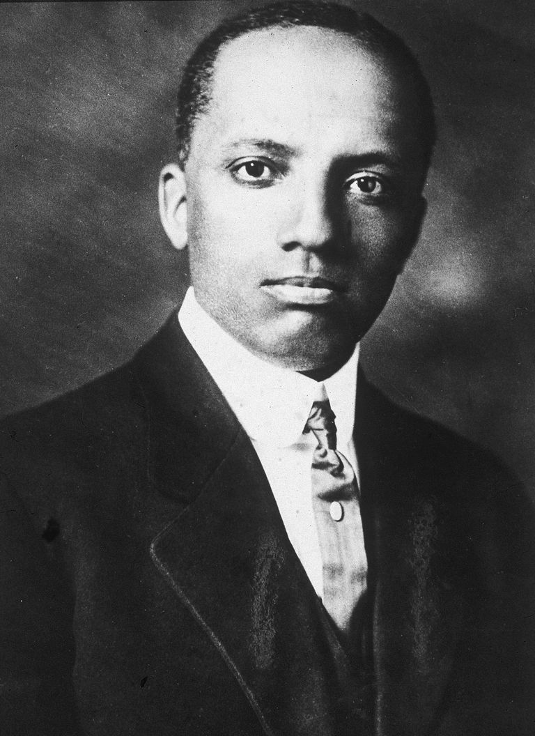 Black and white portrait of Carter Woodson