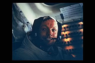 Neil Armstrong Pictures - View of Astronaut Neil Armstrong in Lunar Module