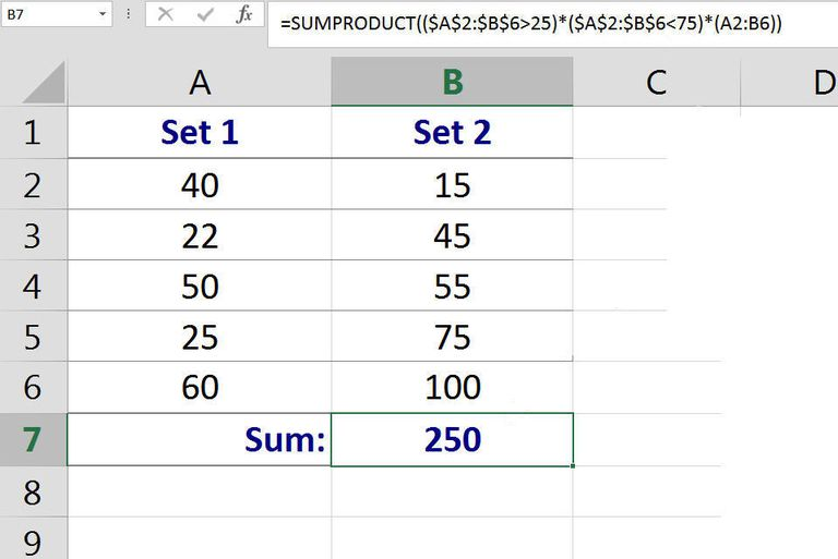 Summing Cells of Data that Meet Multiple Criteria with Excel SUMPRODUCT