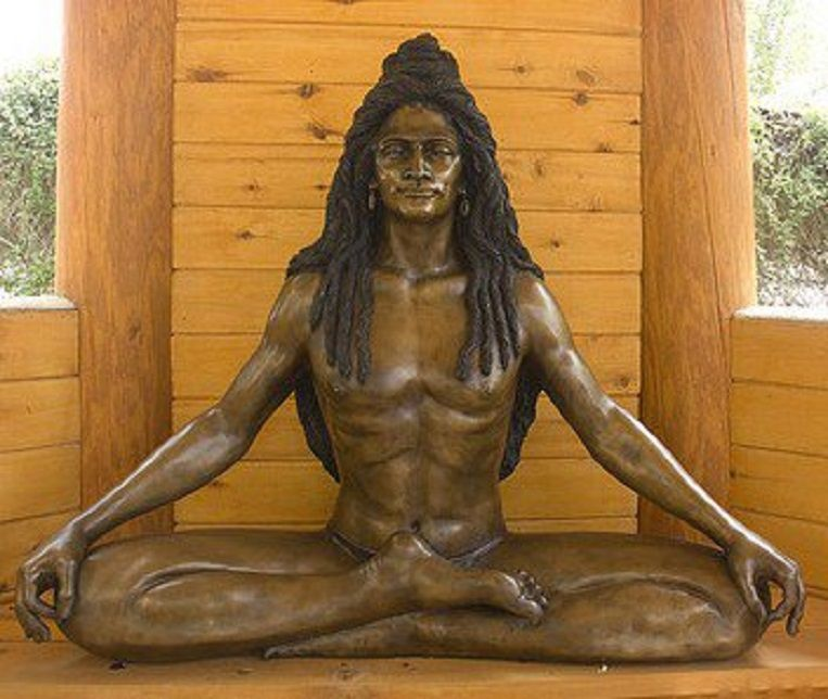 Modern-day Bronze Likeness of Baba Siri Chand Sculpted by Amrit Singh Khalsa