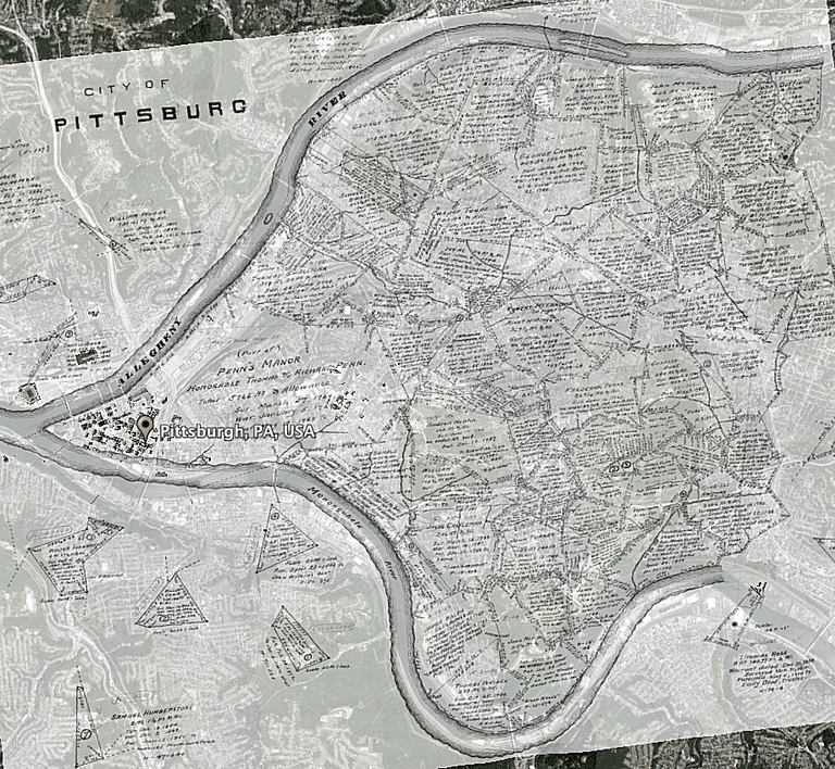 historic map of Pittsburg