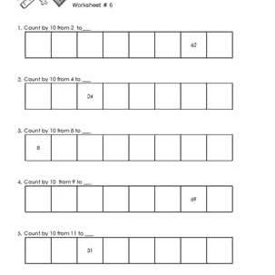 Worksheet # 6