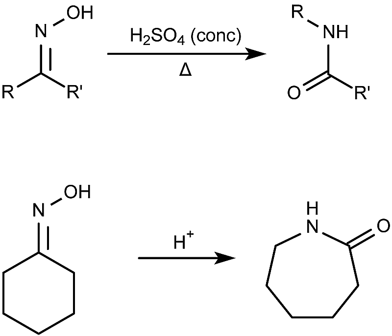 This is the general form of the Beckmann rearrangement reaction.