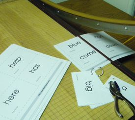 Printable flashcards to teach and assess sight vocabulary