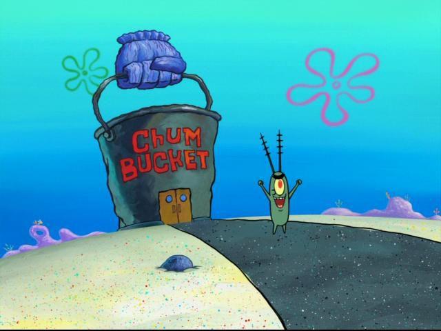 chum bucket in bikini bottom
