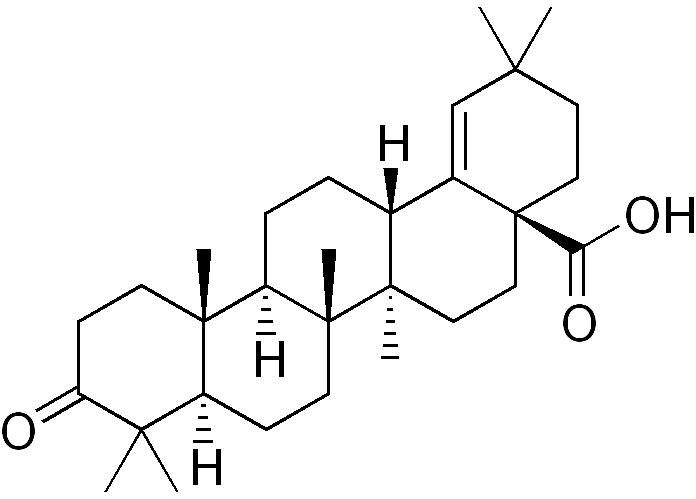Moronic acid is a naturally-occurring triterpene found in the sumac plant and mistletoe.