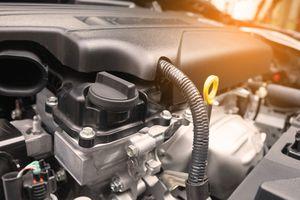 A modern car engine