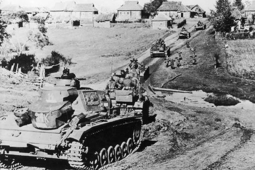 German tanks in Russia during Operation Barbarossa