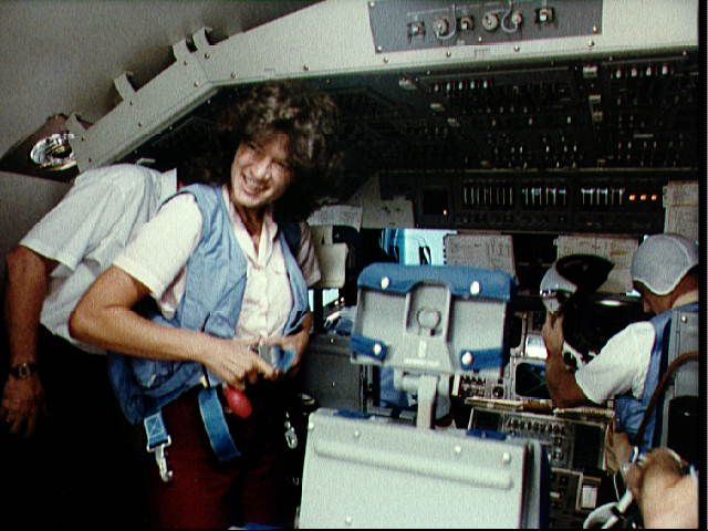 Sally Ride and STS-7 Crew Training in the Shuttle Mission Simulator