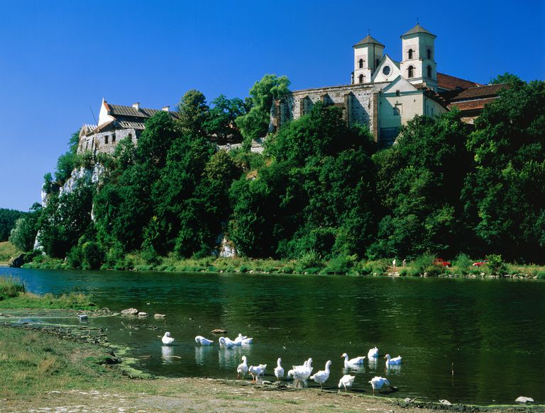 Monastery Building on the Vistula River in Poland
