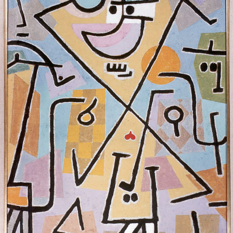 Abstract linear painting by Paul Klee
