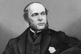Engraved portrait of Gilded Age banker August Belmont