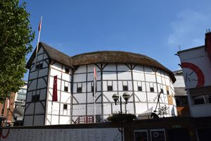 Globe Theater in London on a sunny day.