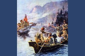 1805: Sacajawea interprets Lewis and Clark's intentions to the Chinook People