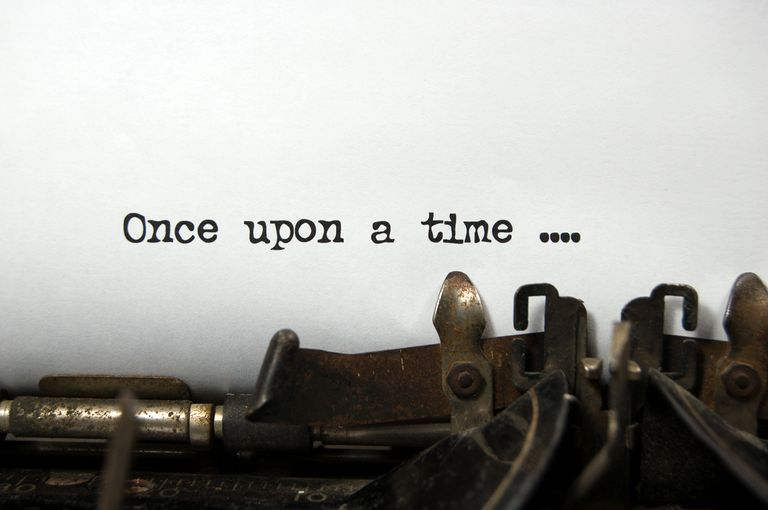typewriter typing Once upon a time...