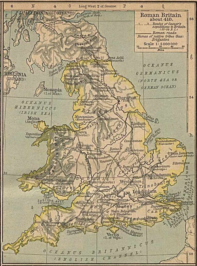 Map Of England 450 Ad.55 B C 450 A D Roman British Timeline