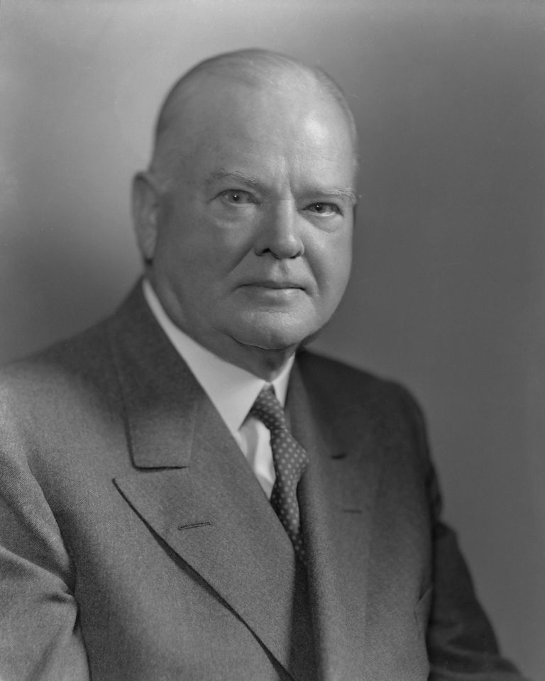Portrait of Herbert Hoover (1874 - 1964), the 31st president of the United States, New York, 1947. (Photo by Bachrach/Getty Images)