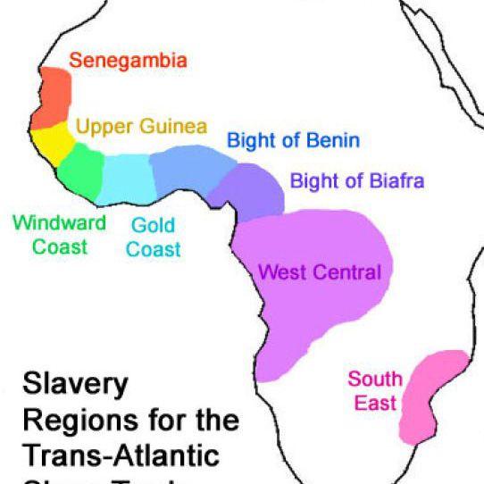 Orjuuden alueet Afrikassa