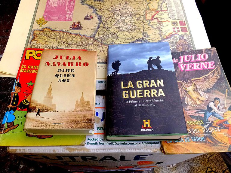 several Spanish-language books