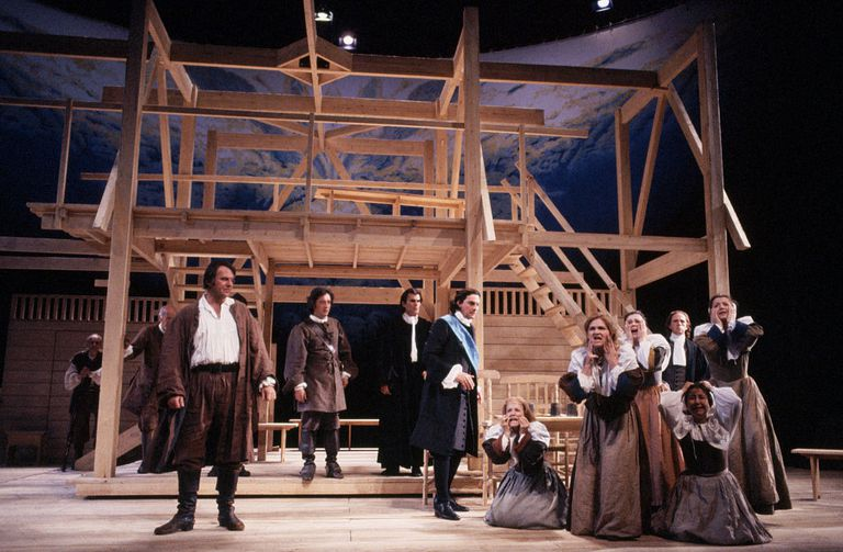 "Actors onstage performing ""The Crucible"""