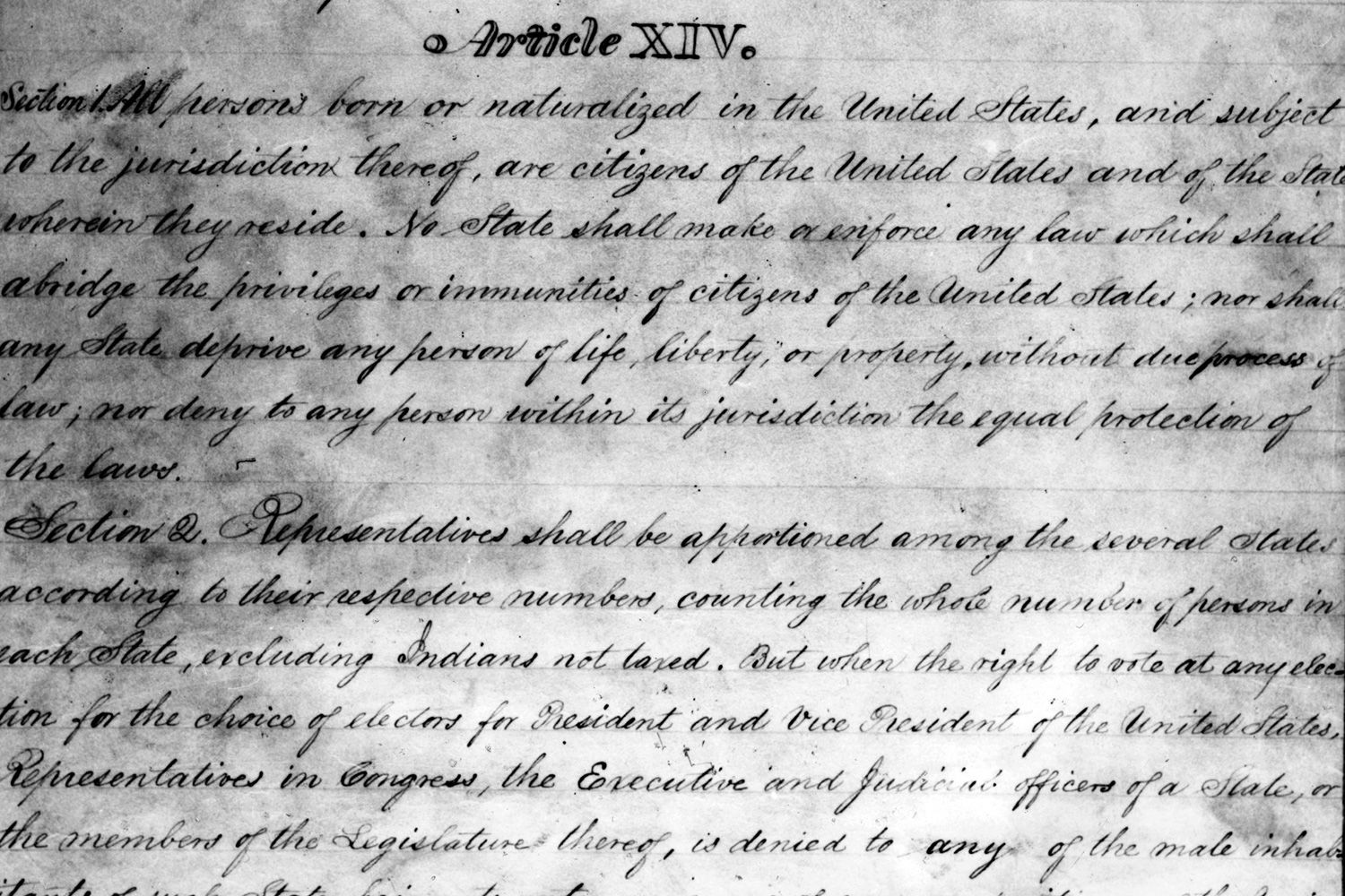 essay on the 14th amendment The 14th amendment provided the backbone for the civil rights movement the civil rights movement was able to make major gains because it was able to make an argument for civil rights with the constitution on its side.