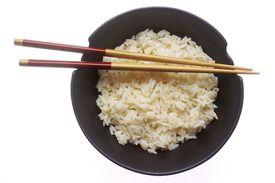 chopsticks and bowl of rice