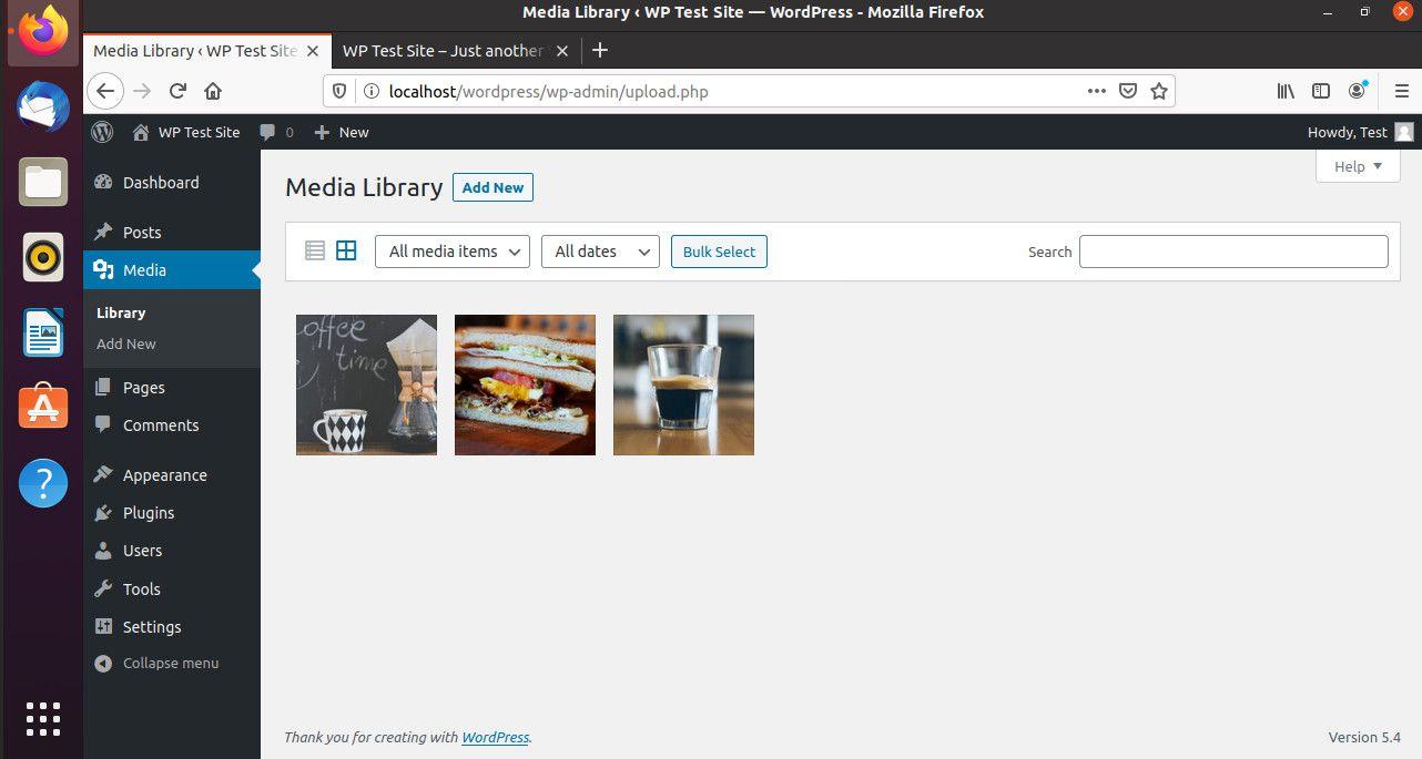 Blog image library on WordPress
