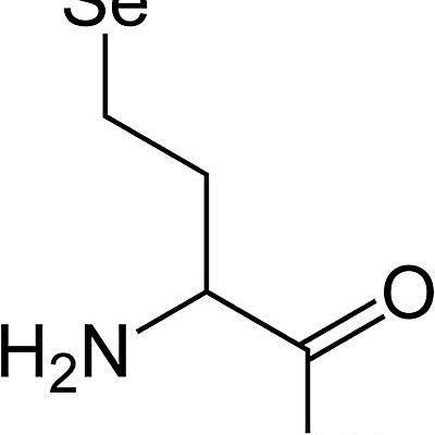 Esta es la estructura química de la selenometionina.