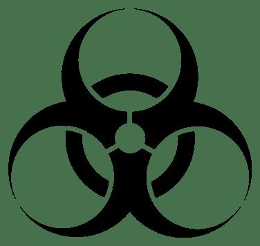 Lab safety signage, biohazard