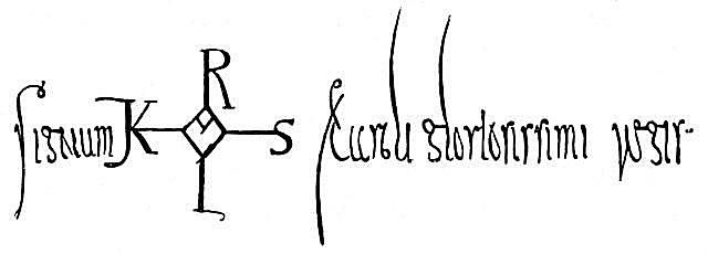 Charlemagne's signature