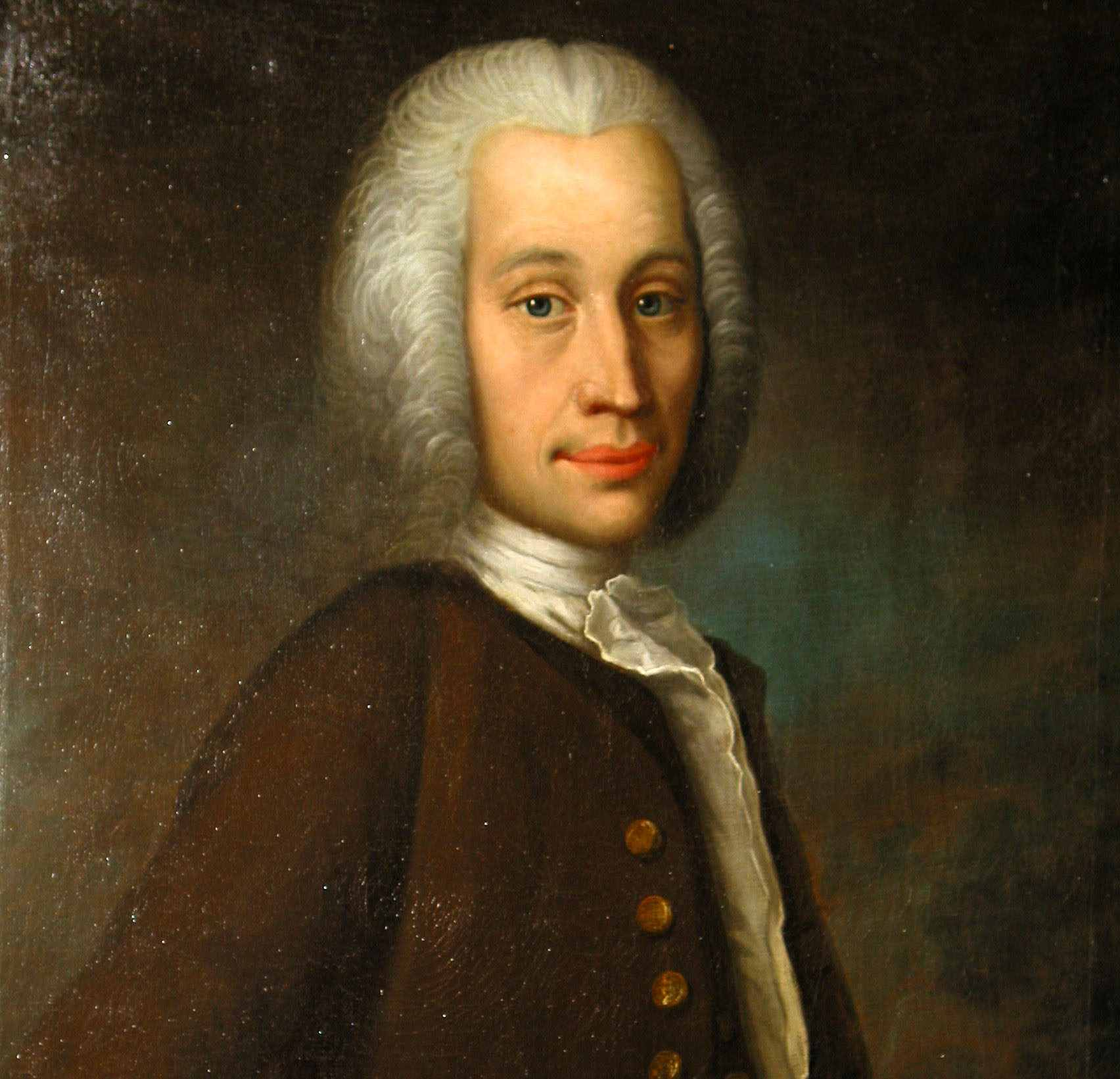 Anders Celsius portrait in full color.