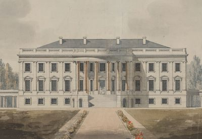 How to order greeting cards from the white house drawing of the white house in the early 1800s m4hsunfo