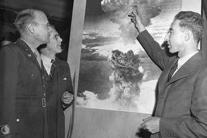 J. Robert Oppenheimer, right