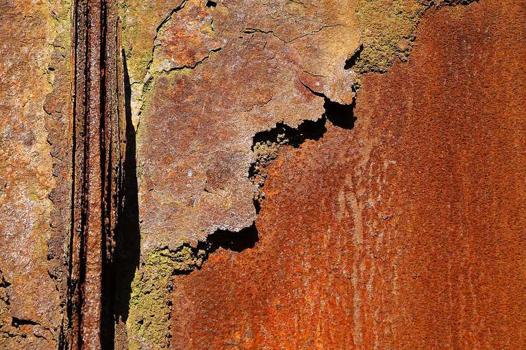 Detail of rust on metal